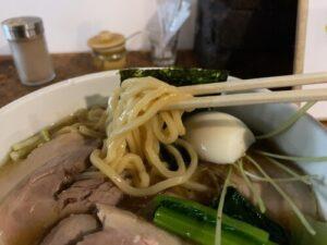 新所沢のらーめんひよりの麺